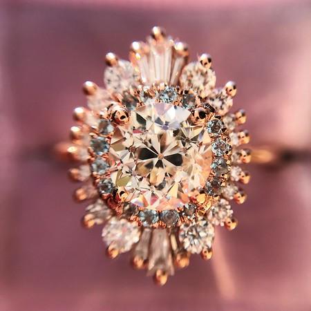 1.62ctw Old European Cut Diamond, in Heidi Gilbson Setting GIA K SI1