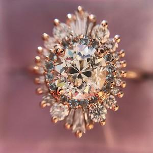 1.62ctw Old European Cut Diamond, Heidi Gibson Waterfall Cambria Setting GIA K SI1