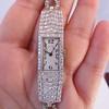 Art Deco Diamond Watch by JE Caldwell, Platinum 17
