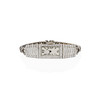 Art Deco Diamond Watch by JE Caldwell, Platinum 26