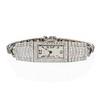 Art Deco Diamond Watch by JE Caldwell, Platinum 0