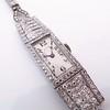 Art Deco Diamond Watch by JE Caldwell, Platinum 19