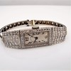 Art Deco Diamond Watch by JE Caldwell, Platinum 9