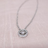 Cathy Waterman Oval Frame Platinum and Diamond Pendant 3
