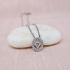 Cathy Waterman Oval Frame Platinum and Diamond Pendant 7