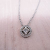 Cathy Waterman Oval Frame Platinum and Diamond Pendant 8