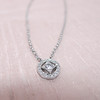 Cathy Waterman Oval Frame Platinum and Diamond Pendant 5