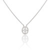 Cathy Waterman Oval Frame Platinum and Diamond Pendant 0