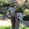 Tiffany & Co. Bubble Diamond and Tsavorite Earrings 12