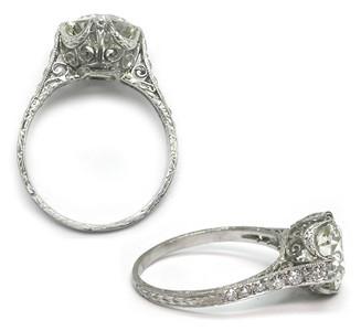 1.30tcw (est) 3-Stone Ring by A. Jaffe