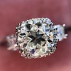 1.52ct Old European Cut Diamond in Tacori Dantela Mounting 18
