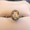 1.88ctw Oval Rose Cut Diamond Halo Ring, by Single Stone 11
