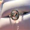 1.88ctw Oval Rose Cut Diamond Halo Ring, by Single Stone 10