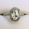 1.88ctw Oval Rose Cut Diamond Halo Ring, by Single Stone 4