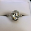 1.88ctw Oval Rose Cut Diamond Halo Ring, by Single Stone 26