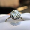 1.88ctw Oval Rose Cut Diamond Halo Ring, by Single Stone 7
