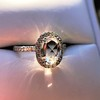 1.88ctw Oval Rose Cut Diamond Halo Ring, by Single Stone 9