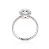 1.88ctw Oval Rose Cut Diamond Halo Ring, by Single Stone 2