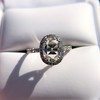 1.88ctw Oval Rose Cut Diamond Halo Ring, by Single Stone 14