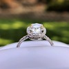 1.88ctw Oval Rose Cut Diamond Halo Ring, by Single Stone 22