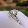 1.88ctw Oval Rose Cut Diamond Halo Ring, by Single Stone 23