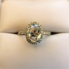 1.88ctw Oval Rose Cut Diamond Halo Ring, by Single Stone 13