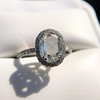1.88ctw Oval Rose Cut Diamond Halo Ring, by Single Stone 19