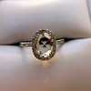 1.88ctw Oval Rose Cut Diamond Halo Ring, by Single Stone 33