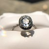 1.88ctw Oval Rose Cut Diamond Halo Ring, by Single Stone 6