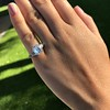 3.43ctw Emerald Cut Diamond 5-Stone Ring by Leon Mege, GIA F SI1 30