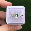 3.43ctw Emerald Cut Diamond 5-Stone Ring by Leon Mege, GIA F SI1 22