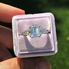 3.43ctw Emerald Cut Diamond 5-Stone Ring by Leon Mege, GIA F SI1 28