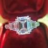 3.43ctw Emerald Cut Diamond 5-Stone Ring by Leon Mege, GIA F SI1 10
