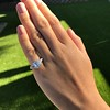3.43ctw Emerald Cut Diamond 5-Stone Ring by Leon Mege, GIA F SI1 25