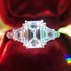 3.43ctw Emerald Cut Diamond 5-Stone Ring by Leon Mege, GIA F SI1 2