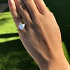 3.43ctw Emerald Cut Diamond 5-Stone Ring by Leon Mege, GIA F SI1 24
