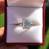 3.76ctw Emerald Cut Diamond Ring, by Leon Mege GIA H VS 12