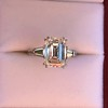 3.76ctw Emerald Cut Diamond Ring, by Leon Mege GIA H VS 10