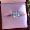 3.76ctw Emerald Cut Diamond Ring, by Leon Mege GIA H VS 4