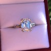 3.76ctw Emerald Cut Diamond Ring, by Leon Mege GIA H VS 8