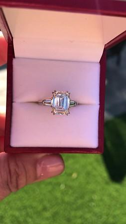 3.76ctw Emerald Cut Diamond Ring, by Leon Mege GIA H VS