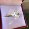 3.76ctw Emerald Cut Diamond Ring, by Leon Mege GIA H VS 5