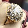 4.83ctw Peruzzi and Cushion Cut Diamond Cluster Ring 9