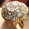 4.83ctw Peruzzi and Cushion Cut Diamond Cluster Ring 12