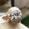4.83ctw Peruzzi and Cushion Cut Diamond Cluster Ring 21