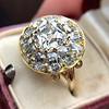 4.83ctw Peruzzi and Cushion Cut Diamond Cluster Ring 19