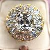4.83ctw Peruzzi and Cushion Cut Diamond Cluster Ring 15