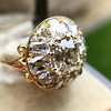 4.83ctw Peruzzi and Cushion Cut Diamond Cluster Ring 26