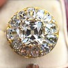 4.83ctw Peruzzi and Cushion Cut Diamond Cluster Ring 5