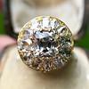 4.83ctw Peruzzi and Cushion Cut Diamond Cluster Ring 20